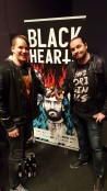 Me and Eirik Tiller in front of the Blackhearts poster